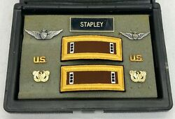 Vintage Us Army Chief Warrant Officer Pilot Pins And Shoulder Boards