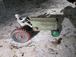 Vintage Arcade Cast Iron Tractor And Driver Toy Farm Feed Seed