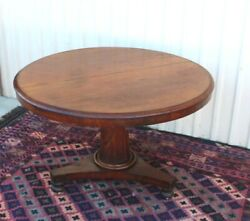 French Antique Mahogany Flip Top Table / Kitchen Table