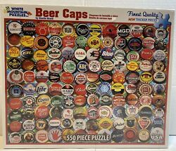 White Mountain Beer Bottle Caps 550 Piece Jigsaw Puzzle By Charlie Girard Sealed
