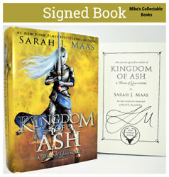 Sarah J Maas Signed / Autographed Book Kingdom Of Ash Queen Of Shadows