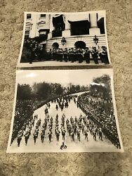 Us Marine Corps Band - Defense Dept Photograph Lot - 1903 And 1930 Pres. Hoover