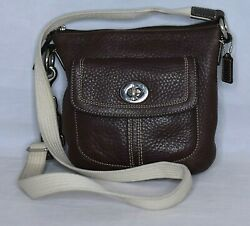 COACH Swing Pack Cross Body Pebbled Leather Small Purse $24.99
