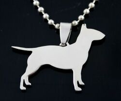 Stainless Steel English Bull Terrier Bully Gladiator Pet Dog Pendant Necklace
