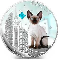 Fiji 2013 2 Super Cat Iv Siamese Dogs And Cats 1oz Silver Coin