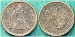 1875-s Seated 20c-never Dipped Or Cleaned- Twenty Cent++