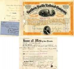29 Northern Pacific Railroad Company Stocks Issued To J.s. Morgan And Co. - Stoc
