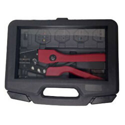 Heavy Duty Ratcheting 8 To 22 Awg Heat Shrink Terminal Crimper Tool Kit And Dies
