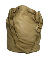 Chanel Bag Bucket Quilted Chain Shoulder Purse Handbag Oversized Duffle Bicolore $1299.99