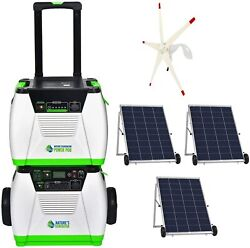 Nature's Generator Platinum We System 1800w + Solar And Wind Powered + Power Pod