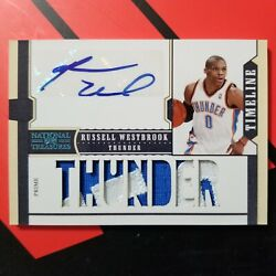 2010 National Treasures Timeline Russell Westbrook Patch Auto 2/2🔥🔥🔥