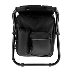 3 in 1 Backpack Cooler Chair Folding Camping Fishing Stool with Insulated $47.34