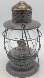 Antique S.g.and L. Co / N.e.g. Co Transition Railroad Style Model Lantern