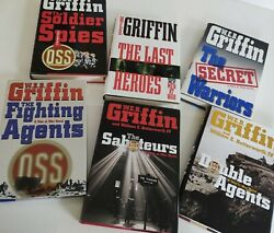 1985-2007 Web Griffin Set Of 6 Men At War Hcdj Military Fiction Wwii Spies Oss