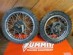 1978-80 Suzuki Rm50 Front Rear Wheels Tires Hubs Axle