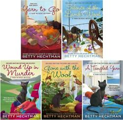 Yarn Retreat Mysteries Series Collection Set Books 1-5 By Betty Hechtman