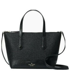 Kate Spade New York Lola Glitter Satchel crossbody Glitter Black Bag Purse NWT $84.95