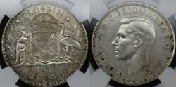 1938 Proof Florin Ngc Graded Pf61 Rare Mintage Of Only 80 Coins
