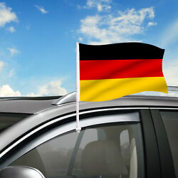 Germany Car Flag, 18 X 12 Country Car Window Clip On Flag, Graphic+hardware