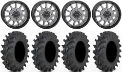 System 3 St-5 14 Wheels Gun Metal 32 Outback Max Tires Can-am Maverick X3