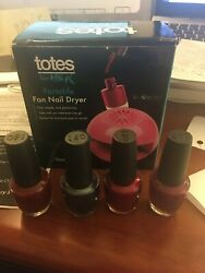 Totes for Her All In One Nail Dryer Pink $26.00