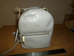 New HOBO Revel Leather Mini Backpack Purse Cloud Gray $49.99
