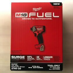 Milwaukee 2760-20 M18 Fuel Lithium 1/4 Surge Impact New In Box 2 Day Shipping