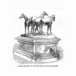 17th Lancers Centrepiece For The Mess Table - Antique Print 1869