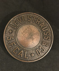 Levi Strauss And Co. S.f. Cal Brass Belt Buckle