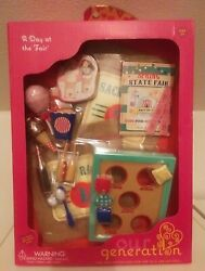 """New Our Generation A Day At The Fair Playset Accessories Lot 18"""" Doll State Fair"""