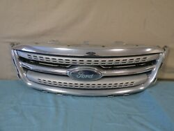 ✅ 10 11 12 2010-2012 Ford Taurus Front Upper Bumper Grille Grill Mesh Chrome Oem
