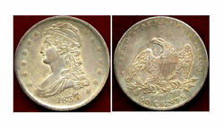 1837 50c Reeded Edge- Capped Bust Halve ++