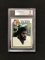 1979 Topps Football Earl Campbell 390 Bvg/bgs Graded 9 - Mint - Rookie