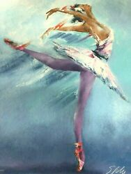Victor Spahn Prima Ballerina Hand Signed By Artist- With Coa And Appraisal