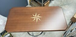 Rectangular Table Top With Compass Insert Marine