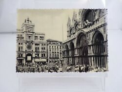 1950 Venice Italy Post Card The Clock Tower The Bronze Horse