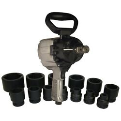 1 Drive Air Impact Wrench With 13-pc Sae Socket Set, 1500 Ft/lb Ultimate Torqu