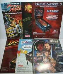 Pinball Flyers Star Wars Pirates Indiana Jones T3 Simpsons Attack From Mars 38