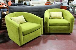 Milo Baughman Attributed Lounge Chairs A Pair Mid Century Modern 1960's