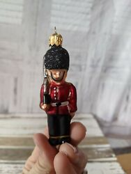 Vtg Miniature Palace Queen's Royal Guard Soldier Xmas Holiday Tree Ornament Rare