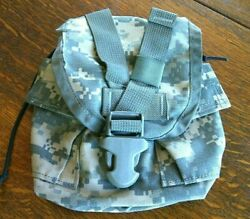 Field Molle 1 Qt Canteen Pouch Camo Acu Gear Military Us Army Equipment Belt Bag