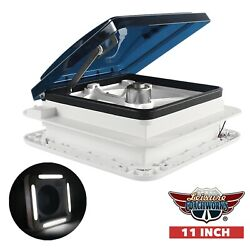 Rv Trailer Roof Vent Fan 11 With 2-way Ventilation Led Light 12 Volts New Lcw