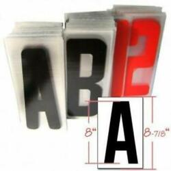 8 Acrylic Letter Set For Portable Lighted Advertising Signs