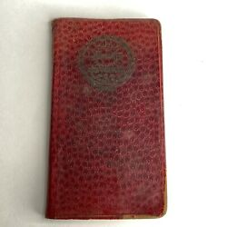Antique Vintage Victor Ring Travelers Book 1942-43 Spinner Yarn Rayon Notebook