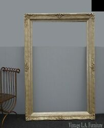 70 X 46 Vintage French Provincial Silver Ornate Picture Frame