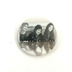 Wilson Phillips Button Official 1992 Pinback Badge Pin
