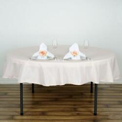 15 Blush 90 Round Polyester Tablecloths Wedding Catering Restaurant Supplies