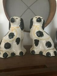 antique staffordshire dogs pair
