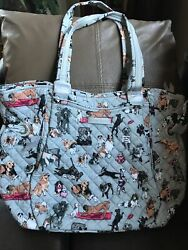 Vera Bradley Glenna Best In Show Exact Item New Rare And Retired 1 Tote Dogs