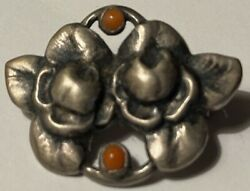 Evald Nielsen, Silver Sterling Pin Coral , Gorgeous Antique, Collectible